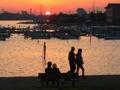 手賀沼公園の夕景